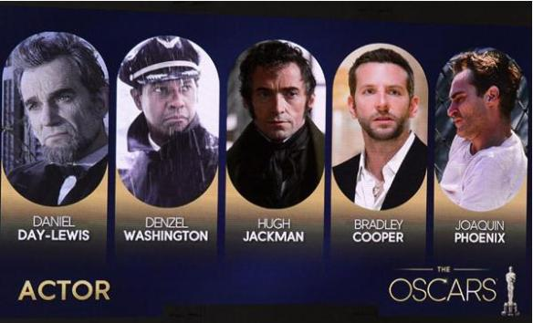 oscar 2013 male actors